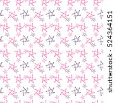 abstract star seamless pattern... | Shutterstock .eps vector #524364151