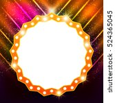abstract shining retro light... | Shutterstock .eps vector #524365045