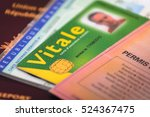 french driver licence and... | Shutterstock . vector #524367475