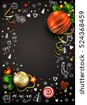 new year vector poster with... | Shutterstock .eps vector #524368459