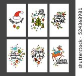 collection holiday cards for... | Shutterstock .eps vector #524368981