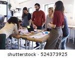 team of designers having... | Shutterstock . vector #524373925