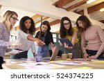 female designers having... | Shutterstock . vector #524374225