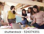 female designers having... | Shutterstock . vector #524374351
