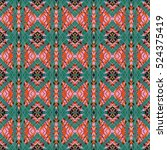 abstract geometric seamless... | Shutterstock . vector #524375419