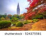 autumn in the shinjuku park ... | Shutterstock . vector #524375581