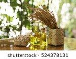 rice bran oil. | Shutterstock . vector #524378131