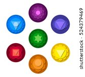 chakras icons. concept of... | Shutterstock .eps vector #524379469