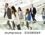 young business people climb the ... | Shutterstock . vector #524380069