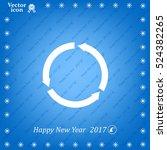circular arrows vector icon | Shutterstock .eps vector #524382265