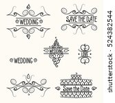 hand drawn dividers set for... | Shutterstock .eps vector #524382544