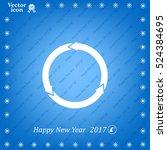 circular arrows vector icon | Shutterstock .eps vector #524384695