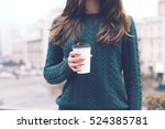 pretty young woman in stylish... | Shutterstock . vector #524385781