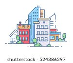 city with high buildings for... | Shutterstock .eps vector #524386297