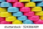 group of colorful plastic water ... | Shutterstock . vector #524386489