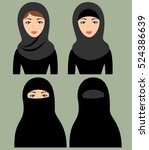 muslim female headgear.... | Shutterstock .eps vector #524386639