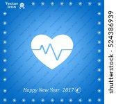 cardiogram icon vector | Shutterstock .eps vector #524386939