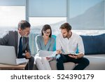 group of successful... | Shutterstock . vector #524390179