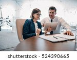 two confident businesspeople...   Shutterstock . vector #524390665