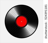 vinyl records  realistic vinyl... | Shutterstock .eps vector #524391181
