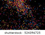 colorful explosion of confetti. ... | Shutterstock .eps vector #524396725