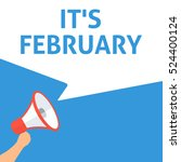it's february announcement.... | Shutterstock .eps vector #524400124