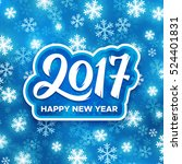 happy new year 2017 greeting... | Shutterstock .eps vector #524401831