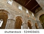 Small photo of Bernay, France - august 11 2016 : the ancient abbatial church