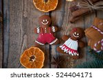 christmas composition. xmas... | Shutterstock . vector #524404171