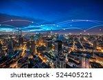 shanghai rapid development in... | Shutterstock . vector #524405221