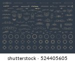 vintage decor elements and... | Shutterstock .eps vector #524405605