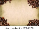 coffee frame against stained retro background - stock photo