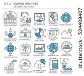 big set of symbols of global... | Shutterstock .eps vector #524408407