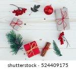christmas gift boxes... | Shutterstock . vector #524409175