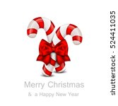 christmas candy cane isolated... | Shutterstock .eps vector #524411035
