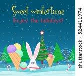 christmas card background.... | Shutterstock .eps vector #524411974