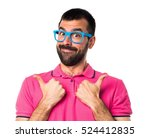 man in colorful clothes with... | Shutterstock . vector #524412835