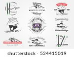 ski club team. mountain and... | Shutterstock .eps vector #524415019