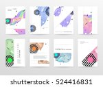 geometric background template... | Shutterstock .eps vector #524416831