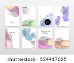 geometric background template... | Shutterstock .eps vector #524417035