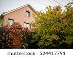 comfortable cottage facade.... | Shutterstock . vector #524417791
