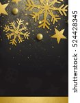 elegant merry christmas and... | Shutterstock . vector #524428345