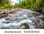 Wild River In Deep Forest