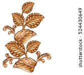 decorative bronze floral... | Shutterstock .eps vector #524430649