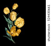 Isolated Yellow Tulips On A...