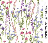 seamless pattern of spring... | Shutterstock .eps vector #524430967