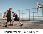two sportsmen playing... | Shutterstock . vector #524430979