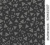 retro memphis geometric line...   Shutterstock .eps vector #524431537