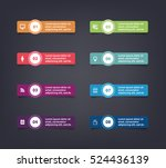vector paper flag stickers and... | Shutterstock .eps vector #524436139