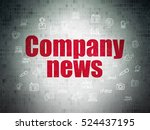 news concept  painted red text...   Shutterstock . vector #524437195